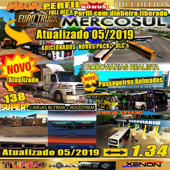 Euro Truck Simulator 2 Brasil 1.34 Mega Mapa Mercosul 2019