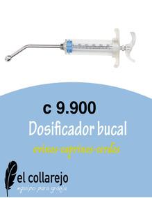 Dosificador Bucal Para Ovejas Y Cabras.