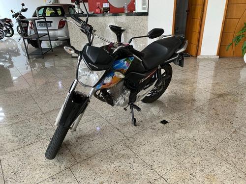 Honda Cg 160 Fan Esdi Flex Preta 2017