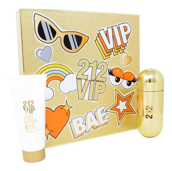 Set 212 Vip 2pzs 80 Ml Edp Spray + Body Lotion 100 Ml De Car