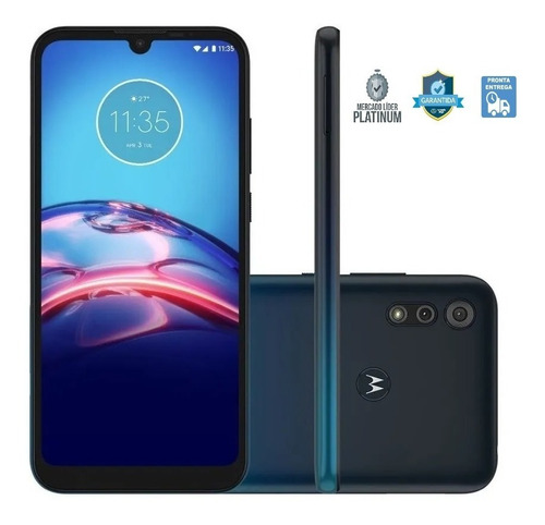 Smartphone Motorola Moto E6s 32gb Tela 6.1'' 2gb Azul Xt2053