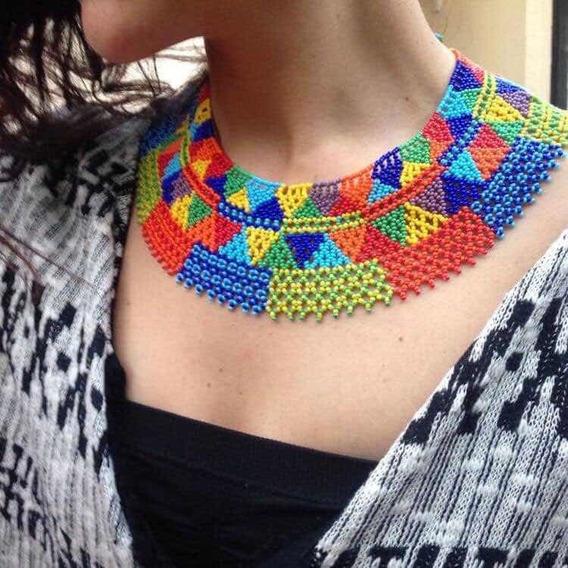 Collar Pectoral De Chaquira
