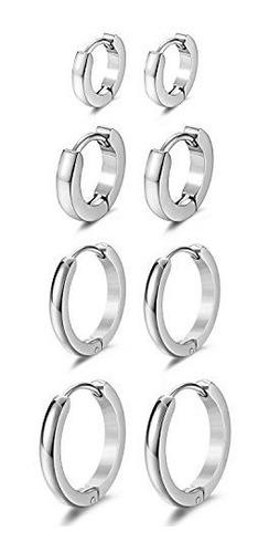 Jewelrieshop Conjunto De Joyería Para Hombre Huggie Pendien