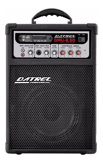 Caixa Multiuso Amplificada 50 Rms Datrel 8 Bluetooth + ***brinde***
