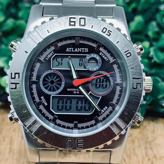 Relógio Atlantis Masculino Analógico Digital G3211 Original