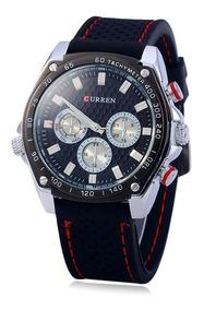 Relógio Curren 8146 Masculino Esportivo Pulseira De Borracha