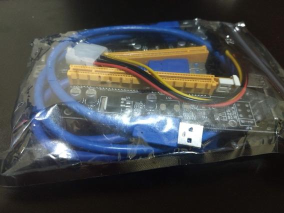 Kit 7 Unidades Riser Pci-e 16x Gpu Mineração E Gaming