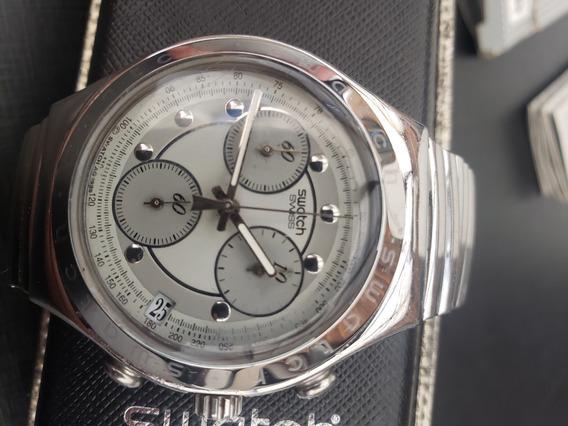 Relógio Suíço Swatch Irony Ycs400a Completo, Revisado E Raro