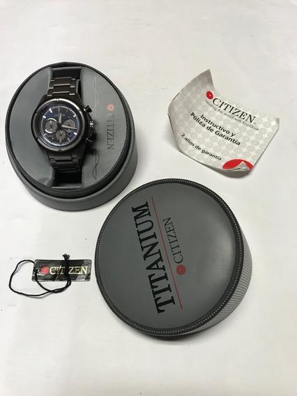 Reloj Citizen Titanium Ecodrive Estuche Original Seminuevo