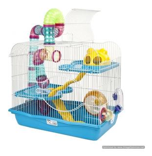 Jaula Para Hamster 3 Niveles Con Tubo Exterior Y Ac. + Envío