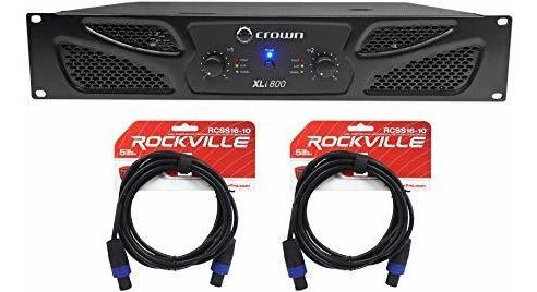 Amplificador Crown Pro Xli800 600w 2 Canales Dj Pa Power A ®
