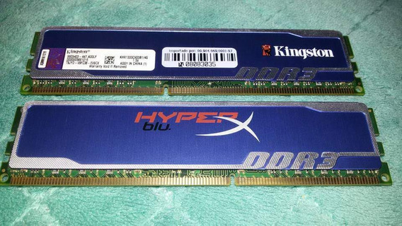 2 Memórias Kingston (pouco Uso) Original De 4gb Ddr3 Khx1333
