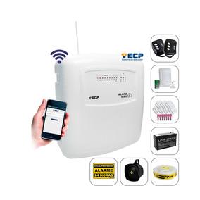 Kit Alarme Residencial Casa Wifi Ecp Sem Fio Com Bateria