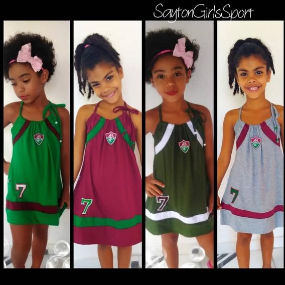Vestido Infantil Do Fluminense (kit C/4)