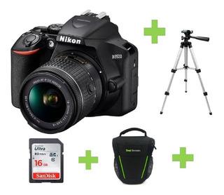 Camara Nikon D3500 18-55mm+16gb+bolso+tripode