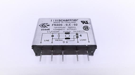 Filtro De Linha Monofásico Pcb Schaffner Fn406-0,5-02