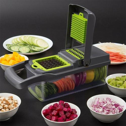 Imagem 1 de 10 de Fatiador Legumes Cortador Alimentos Picador Frete Grátis