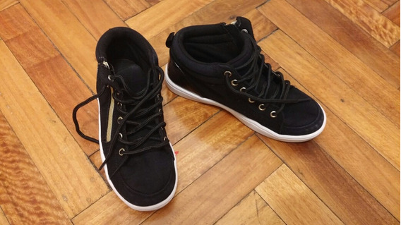 Zapatillas Botitas Negras Importadas Usa, Como Nuevas !!!