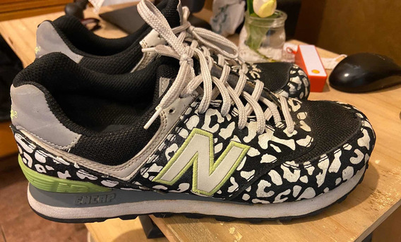 Zapatillas Mujer New Balance 574 Terracota Y Negro ...