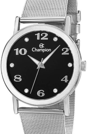 Relógio Champion Feminino Prata Cn29034t
