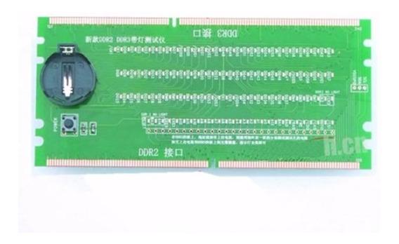 Testador De Slot Ddr2 Ddr3 Desktop Placa Teste Memória Ram