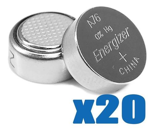 Imagen 1 de 3 de Pilas Energizer A76 Lr44 1.5v Blister X20 Alcalinas Juguetes
