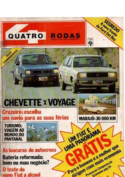 Revista Quatro Rodas Chevette X Voyage Nº 254 Ano 1981