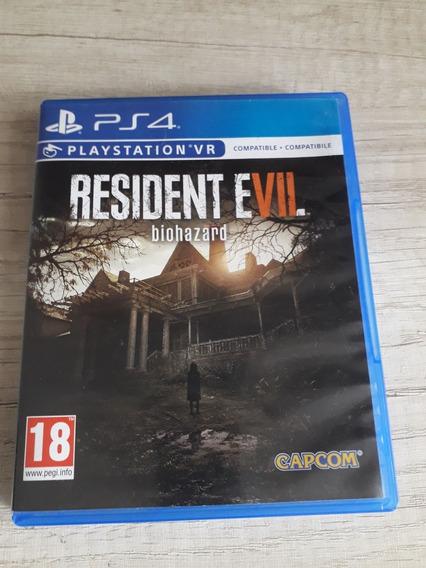 ( Frete R$ 9.90 ) Jogo Resident Evil 7 Biohazard Ps4 Usado