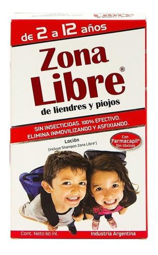 Zona Libre Liendres Y Piojos Loción Mas Shampoo 60ml