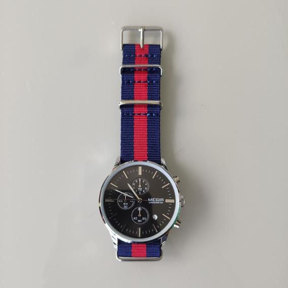 Relógio De Pulso Masculino Megir - Jr-29
