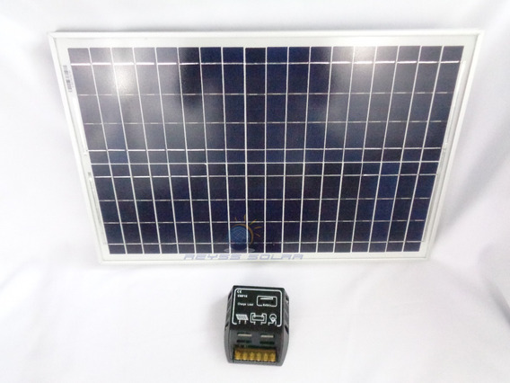 Panel Solar 25w + Controlador Solar 10a 12/24v Iluminacion