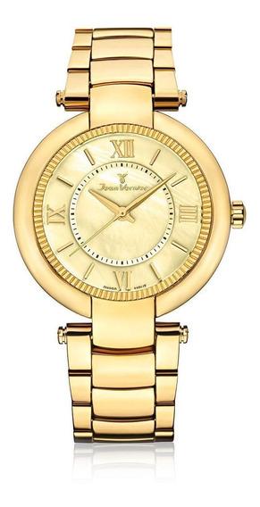 Relógio Pulso Jean Vernier Masculino Aço Jv01143