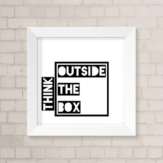 Quadro Outside The Box Fundo Branco - Frete Grátis