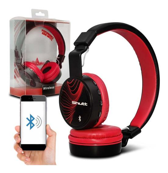 Fone De Ouvido Headphone Wave Wireless P2 Vermelho Shutt