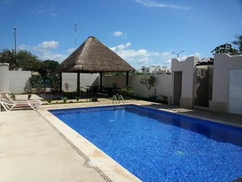 Se Renta Bonito Departamento 2 Rec. Cerrada Morell, Residencial Real Ibiza, Playa Del Carmen P2840