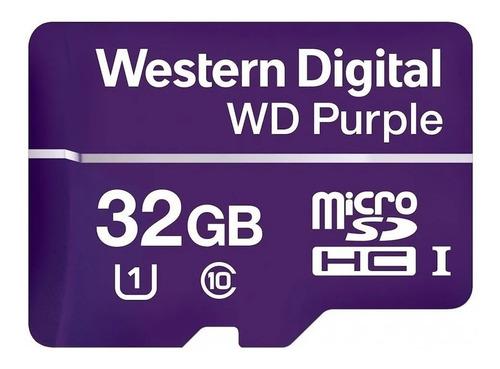 Imagen 1 de 3 de Tarjeta Microsdxc Western Digital Purple 32gb Clase 10