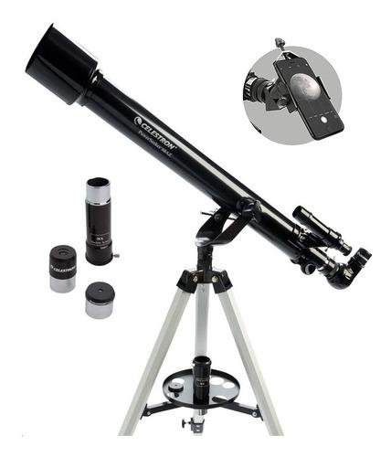 Telescopio Celestron Powerseeker 60az + Soporte Celular