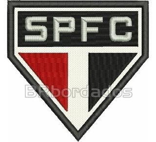 Tsp051 São Paulo Spfc 1986 Antigo Escudo Patch Bordado 9x9cm