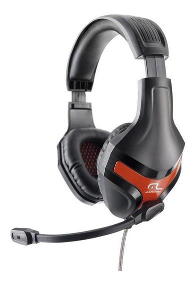 Headset Gamer Multilaser Ph101 Preto E Vermelho