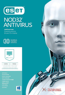 Eset Nod32 Antivirus V12 2019 - 1 Pc 2 Años Super Oferta