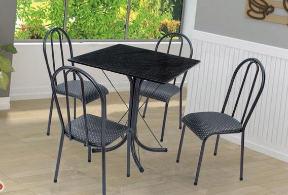Mesa 4 Cadeiras 70x70 Ardosia Direto Da Fabrica P/goiânia