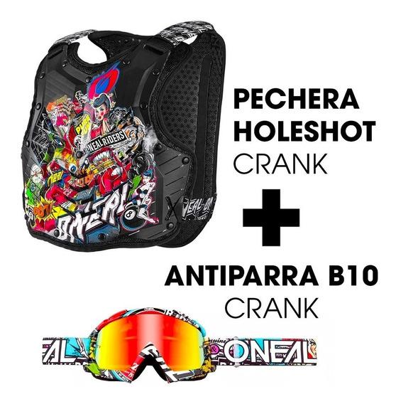 Combo Pechera O`neal Holeshot Crank + Antiparra Crank