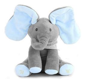 Bicho Pelúcia Elefante Canta Mexe Balança Orelha Toca Música