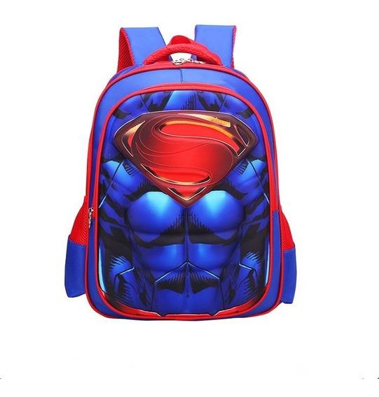 Mochila Escolar 3d Infantil Super Heroes