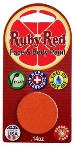 Pintura Facial Ruby Red Paint, 2ml - Naranja