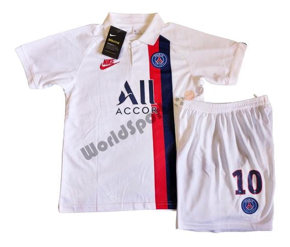Kit Conjunto Infantil Barcelona Messi 19/20