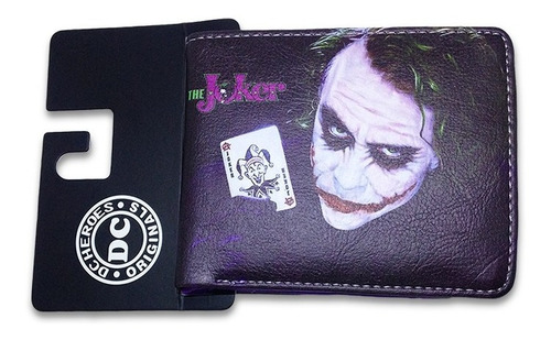 población mensaje Con rapidez  Billetera Joker Guasón Cuero Sintético Dc Cómics | Mercado Libre