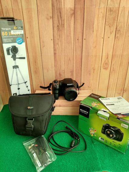 Imperdível Câmera Sony Dsc H300 + Case + Caixa Orig + Tripé