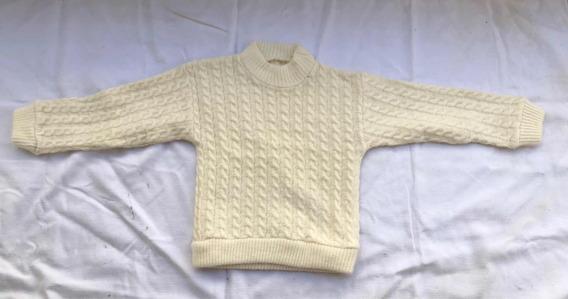 Sweter De Lana Color Crudo. Súper Suave.