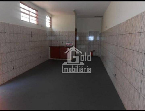 Salão Para Alugar, 38 M² Por R$ 600/mês - Ipiranga - Ribeirão Preto/sp - Sl0137